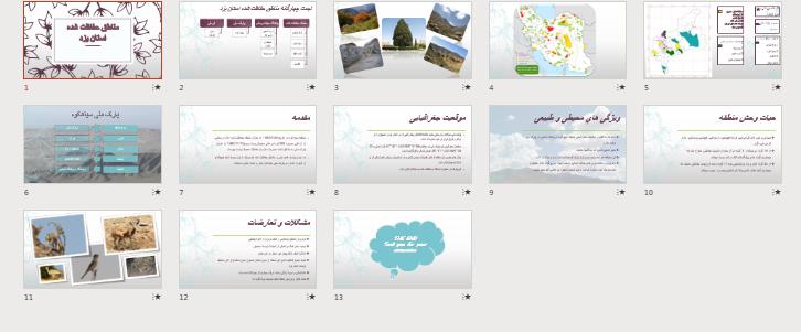 دانلود پاورپوینت مناطق حفاظت شده استان یزد